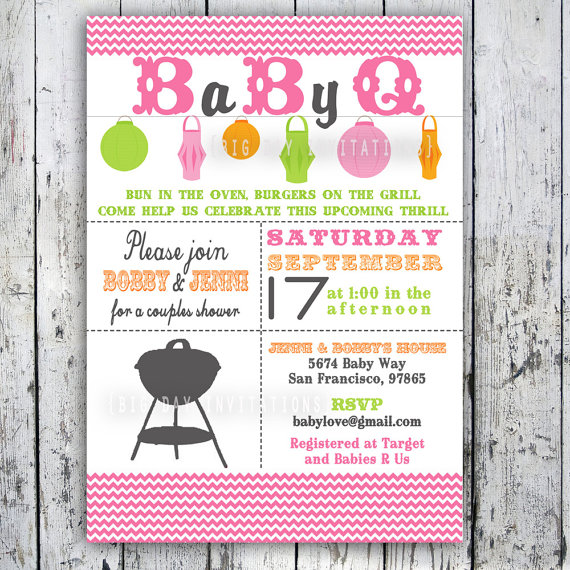 Baby Shower Bbq Series Bbq Invites Menu Pre Party Planning